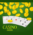 online casino web banner four aces poker hand and vector image