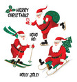 santa clause going to celebration christmas vector image