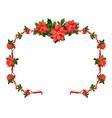seasons greetings floral frame vector image