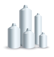 set of silver tank vector image