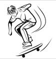 Skater sketch vector image