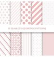 10 seamless geometric patterns vector image