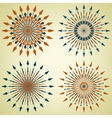 Set of arrow sunbursts vector image vector image