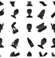 Skin care pattern icons in black style Big vector image