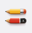 sharpened detailed pencils isolated on white vector image vector image