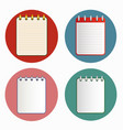 icon of notebook in four variations vector image