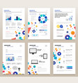presentation booklets - template a4 pages vector image vector image