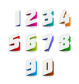 Numbers cut out from paper vector image