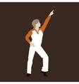 Dancer of a disco vector image vector image