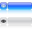 Eye square button vector image