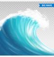 big wave on transparent background vector image