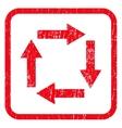 Circulation Arrows Icon Rubber Stamp vector image