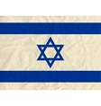 Israel paper flag vector image