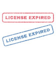 License expired textile stamps vector image