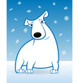 polar bear and snow vector image