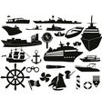 sailing objects icon set vector image