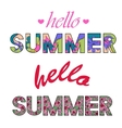 Hello summer colorful words vector image vector image