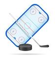 hockey playground vector image