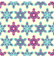 Snowflake mandala seamless pattern vector image