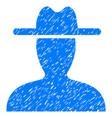 farmer icon grunge watermark vector image