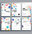 presentation booklet covers - template vector image