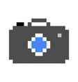 photo camera pixel art cartoon retro game style vector image