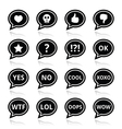 Speech bubble emotion icons - love like anger vector image