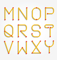 alphabet dot modern paper cut vector image vector image