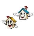 Cartoon houses vector image