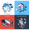 Isometric Computing Set vector image