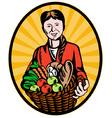 organic farmer vector image vector image