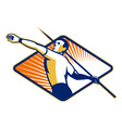 Track and Field Athlete Javelin Throw Retro vector image vector image