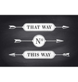 Set of vintage arrows and banners with text That vector image
