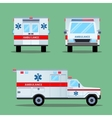 Ambulance Emergency Icon Back Front Side View vector image