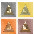 assembly flat shading style icon mountain vector image