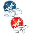 Auto repair a set vector image