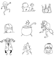 Black and white doodle Halloween vector image