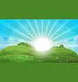 cartoon landscape - abstract sun vector image