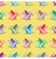Colored dinosaurs Seamless pattern vector image