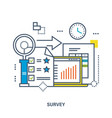 concept of survey vector image