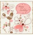 cute bird greeting card vector image