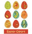 easter eggs design elements vector image