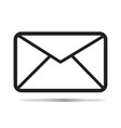 email icon on white background email sign flat vector image