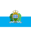 Flag of San Marino vector image