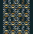 geometric seamless pattern in african style vector image