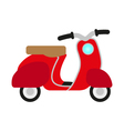 red retro scooter vector image