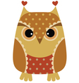 unny cartoon owl vector image