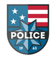 usa police department badge icon vector image
