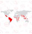 zika virus zika virus world map with vector image