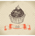 Cake hand drawn vector image